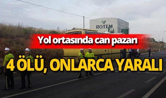 Gezi otobüsü kaza yaptı: Çok sayıda ölü ve yaralı var!