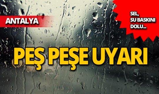 Meteoroloji'den uyarı: Kuvvetli yağışlara dikkat!