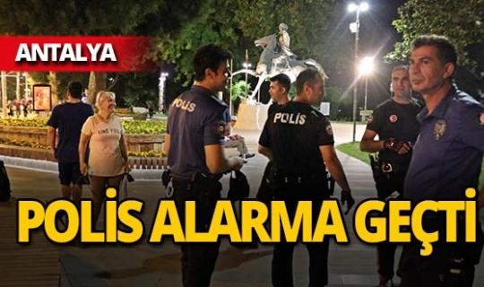 Antalya'da bankta unutulan çanta panik yarattı!
