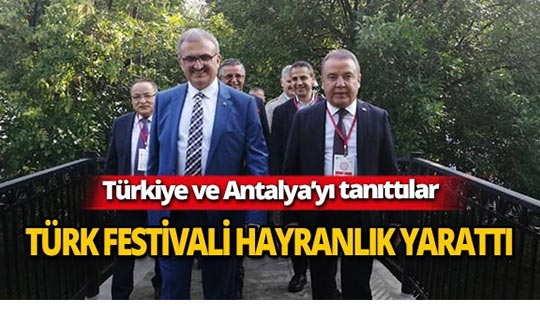 Türk Festivali hayranlık yarattı