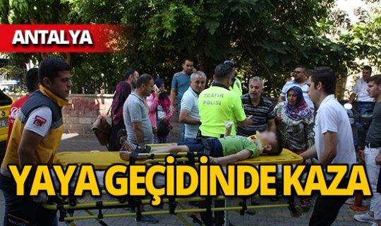 Yaya geçidinde kaza: Küçük çocuk yaralandı!