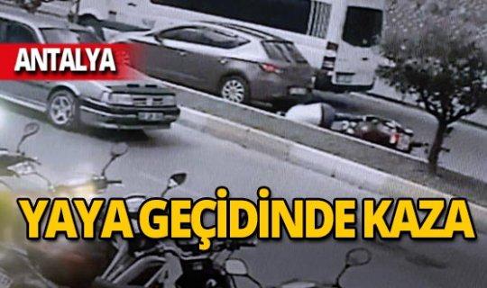 Yaya geçidinde kaza! Sürücü yaralandı