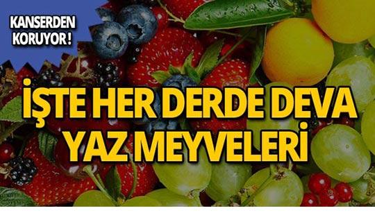 Yaz meyvelerinin inanılmaz yararları!