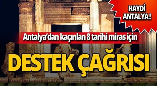 Antalya'dan kaçırılan eserler için hedef 1 milyon imza!
