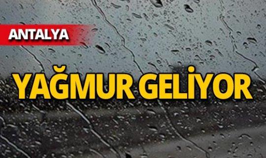 Antalya için uyarı: Sıcaklık düşüyor, yağmur geliyor!