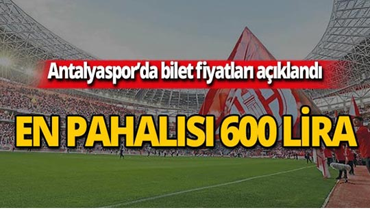 Antalyaspor'un kombine fiyatları açıklandı!