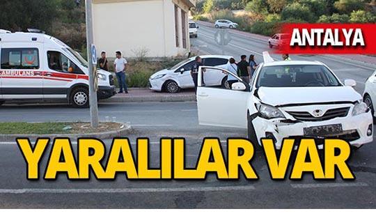 İki otomobil çarpıştı! Yaralılar var