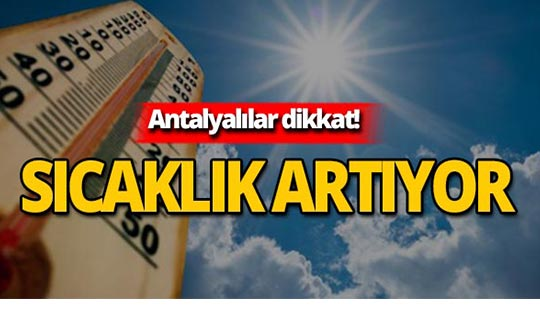 13 Ağustos 2019 Antalya hava durumu