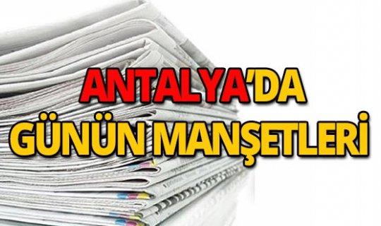15 Ağustos 2019 Antalya'nın yerel gazete manşetleri