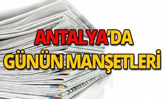 21 Ağustos 2019 Antalya'nın yerel gazete manşetleri