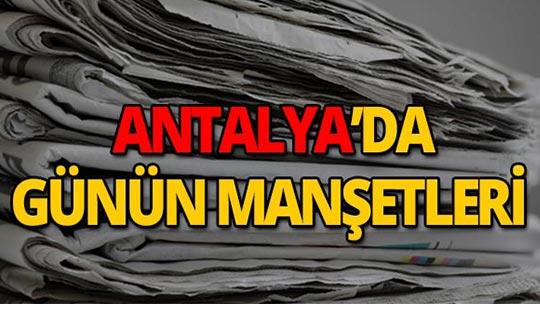 29 Ağustos 2019 Antalya'nın yerel gazete manşetleri