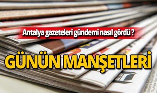 31 Ağustos 2019 Antalya'nın yerel gazete manşetleri