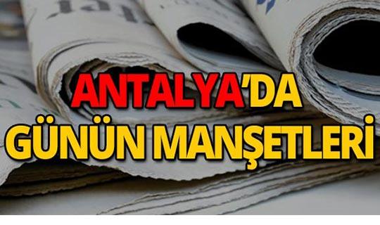 5 Ağustos 2019 Antalya'nın yerel gazete manşetleri