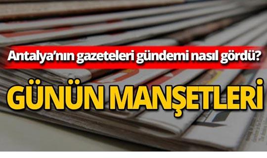 6 Ağustos 2019 Antalya'nın yerel gazete manşetleri