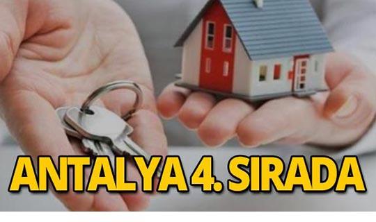 TÜİK açıkladı: Antalya 4. sırada!