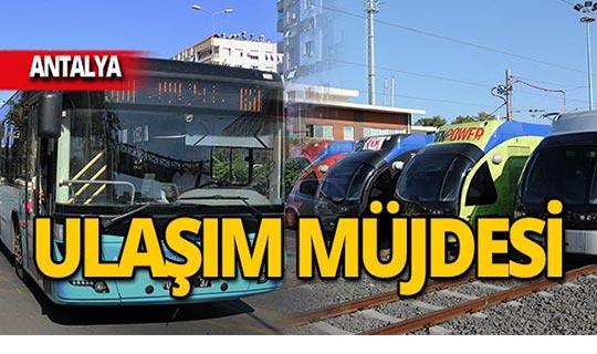Antalya'da ulaşım bayram süresince ücretsiz!