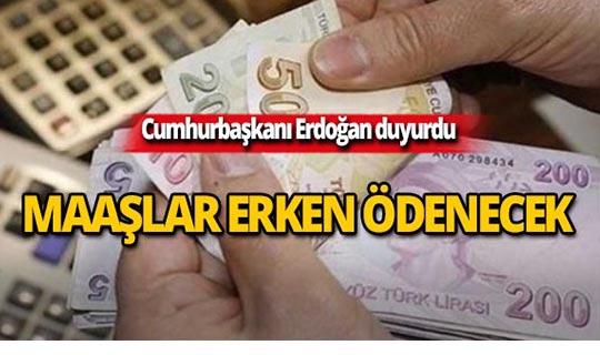 Cumhurbaşkanı Erdoğan'dan kamu çalışanlarına müjde!