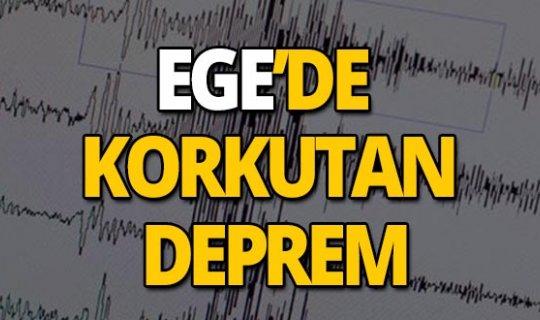 Ege depremle uyandı!