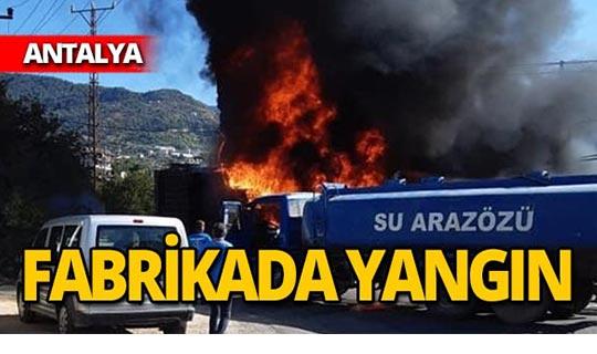 Fabrikadaki yangın panik yarattı!
