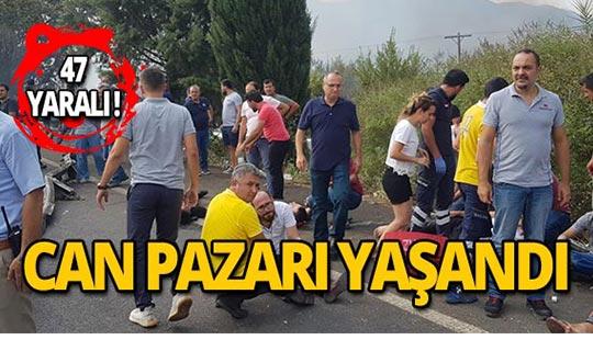 Facia gibi kaza: 20'si ağır 47 yaralı!