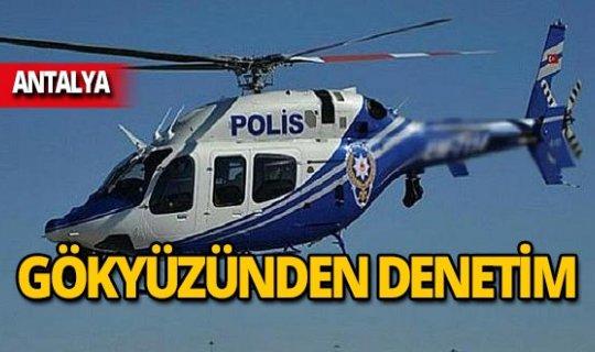 Helikopterli denetim: Sürücülere ceza yağdı!