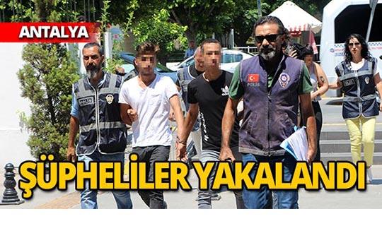 Antalya'da otomobile alıp darp etmişlerdi, yakalandılar!