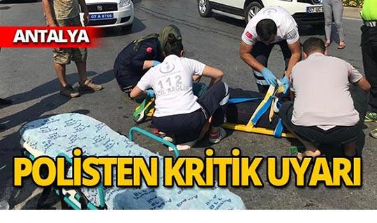 Kaza yerinde polisten önemli uyarı!