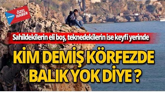 Kimse Antalya'da balık yok demesin!