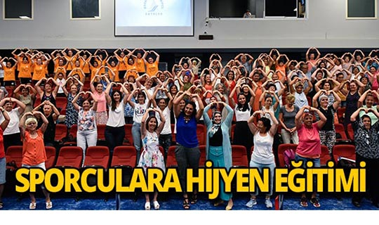 Muratpaşa'da sporculara hijyen eğitimi