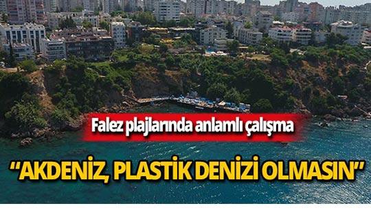 Muratpaşa'dan Falez plajlarında anlamlı çalışma