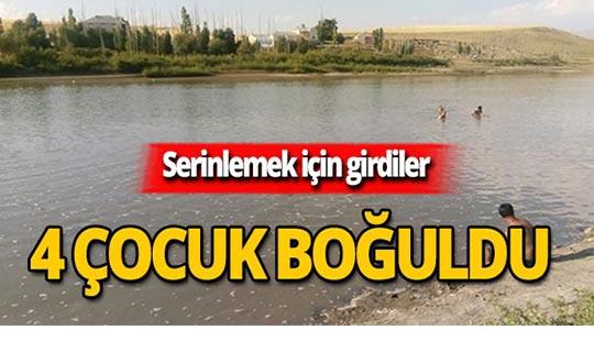 Nehirde facia: 4 çocuk boğuldu, 2 çocuk kayıp!