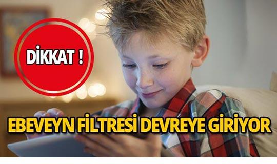 O uygulamada ebeveyn filtresi devreye giriyor!
