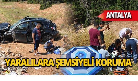 Otomobil şarampole devrildi: Yaralılar var!