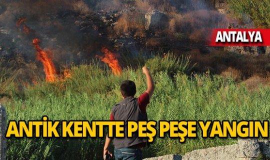 Perge Antik Kenti bölgesi iki kez yandı!