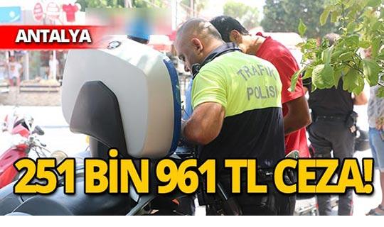 Polis affetmedi: 251 bin 961 TL ceza