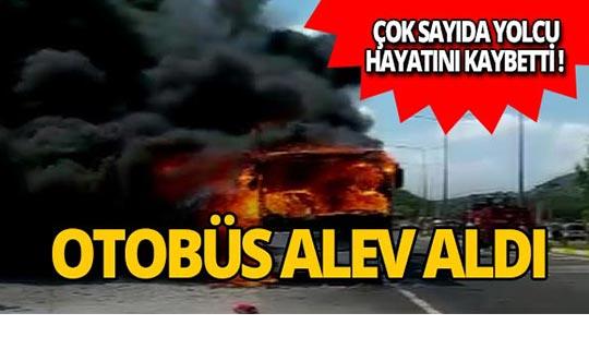 Yolcu otobüsü yandı! Çok sayıda kişi hayatını kaybetti