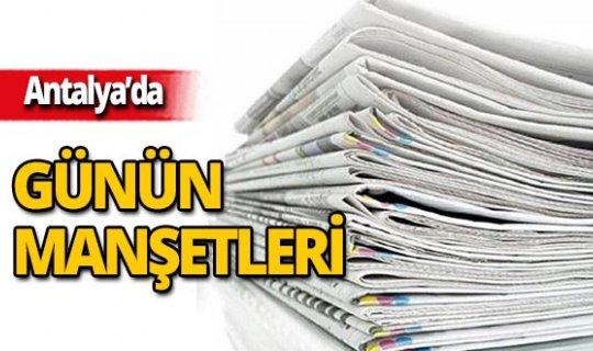 12 Eylül 2019 Antalya'nın yerel gazete manşetleri