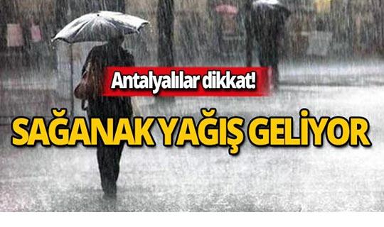 15 Eylül 2019 Antalya hava durumu