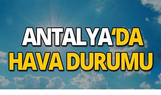 17 Eylül 2019 Antalya hava durumu