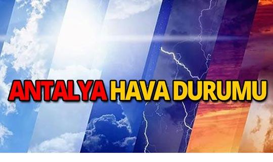 19 Eylül 2019 Antalya hava durumu