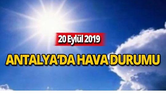 20 Eylül 2019 Antalya hava durumu