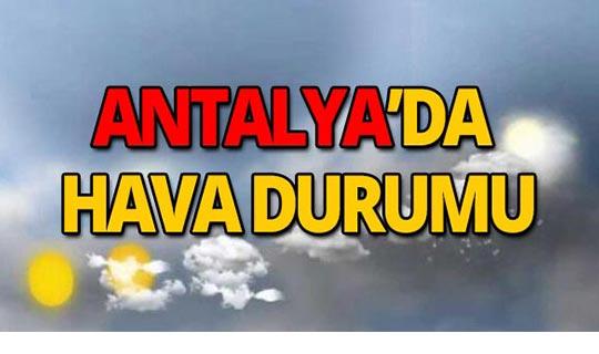 24 Eylül Antalya hava durumu