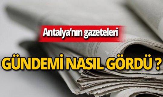 25 Eylül 2019 Antalya'nın yerel gazete manşetleri