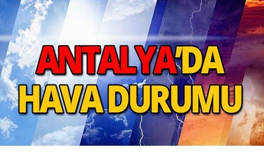 27 Eylül Antalya hava durumu