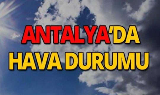 28 Eylül 2019 Antalya hava durumu