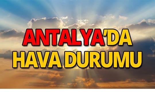 30 Eylül Antalya hava durumu