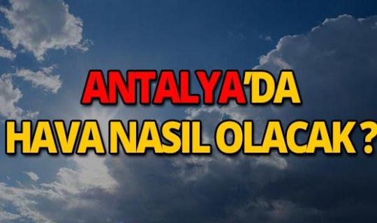 8 Eylül 2019 Antalya hava durumu