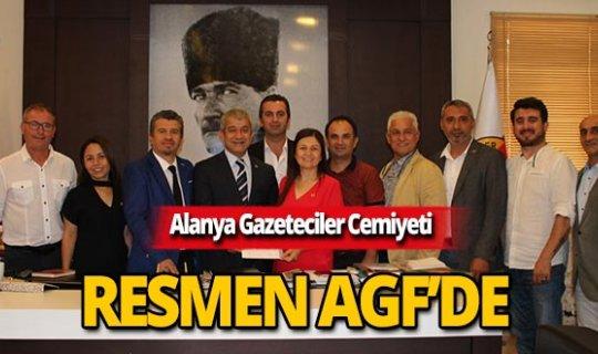 Alanya Gazeteciler Cemiyeti AGF'de!