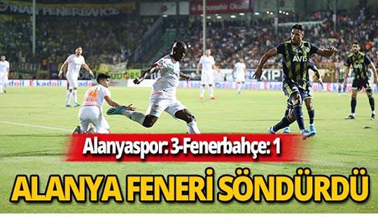 Alanyaspor Fenerbahçe'yi 3-1 mağlup etti