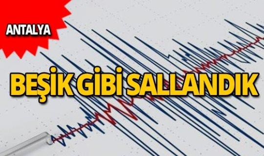 Antalya açıklarında deprem!